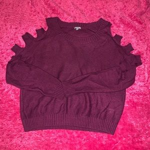 Like New Charlotte Russe Cold Shoulder Sweater